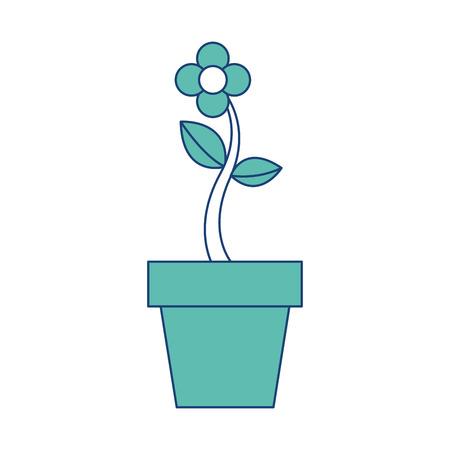 potted flower natural plant decoration vector illustration image green