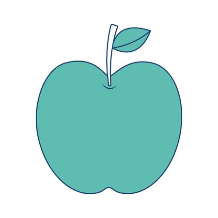 apple fruit fresh food health icon vector illustration image green