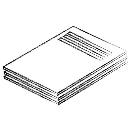 Dokumenten Papier lokalisierte Ikonenvektor-Illustrationsdesign Vektorgrafik