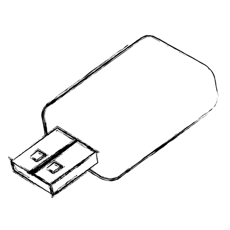 memory usb isolated icon vector illustration design Vectores