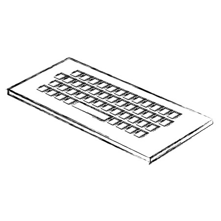 keyboard computer isometric icon vector illustration design Illustration