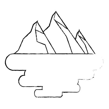 peak mountain snow landscape land scene vector illustration Ilustrace