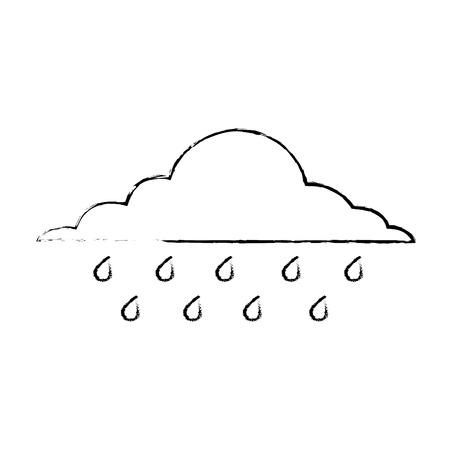 wolk regenachtige hemel voorspelling storm geïsoleerde pictogram vector illustratie