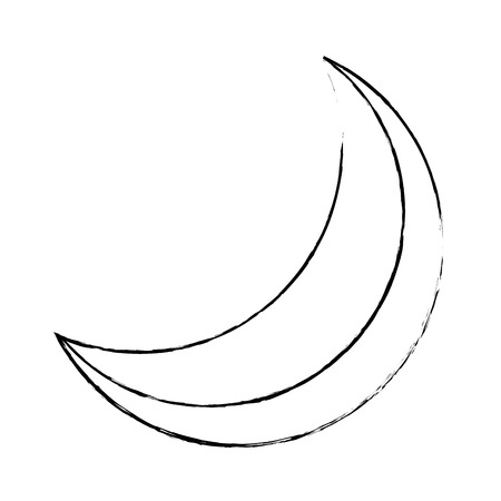 Half Moon Night Flare natürliche Bild Vektor-Illustration Standard-Bild - 90829007