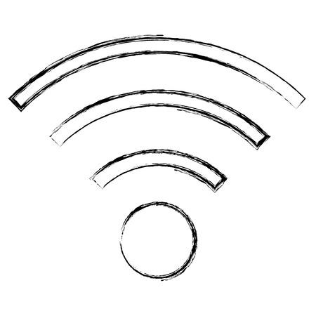 wifi signal isolated icon vector illustration design Stock Vector - 90829010