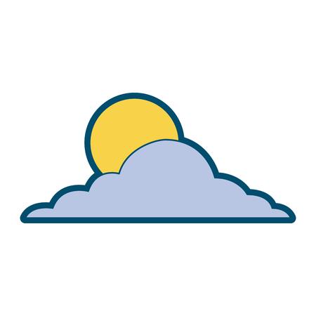 太陽雲の日空自然気候ベクトルイラスト