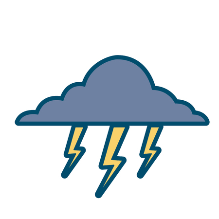 구름 번개 폭풍 자연 기후 벡터 일러스트 레이션 일러스트