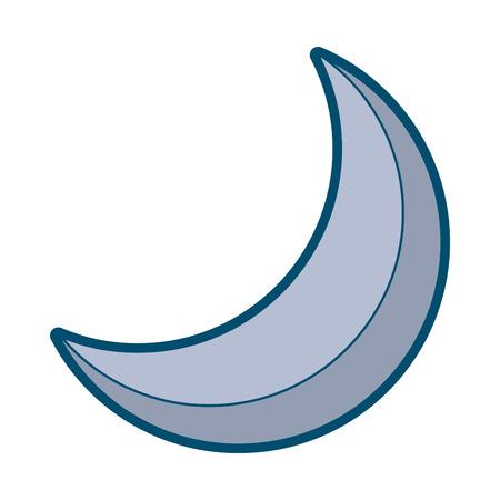 half moon night celestial natural image vector illustration Illustration
