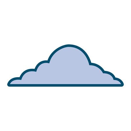雲空天候積雲ビューシーンベクトルイラスト  イラスト・ベクター素材