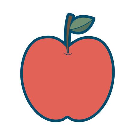 red apple fruit fresh food health icon vector illustration Illustration