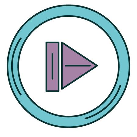 버튼 격리 된 아이콘 벡터 일러스트 디자인 재생 스톡 콘텐츠 - 90829258