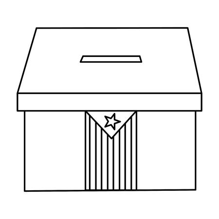 카탈루냐 플래그 독립 투표 아이콘 이미지 벡터 일러스트 레이션