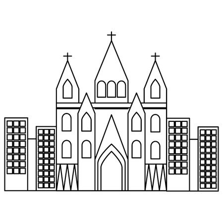 바르셀로나 스페인 벡터 그림에서 sagrada familia gaudi 대성당 사원 교회