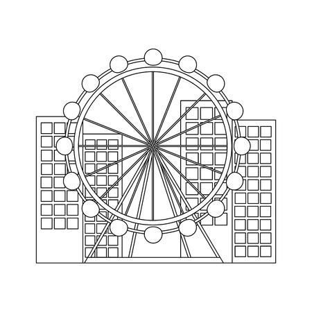 barcelona attraction ferris wheel landmark tourism vector illustration Reklamní fotografie - 90829306