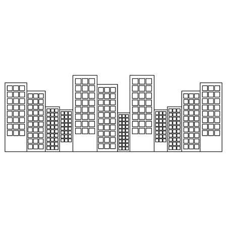 city building architecture urban town ladnmark vector illustration Illustration