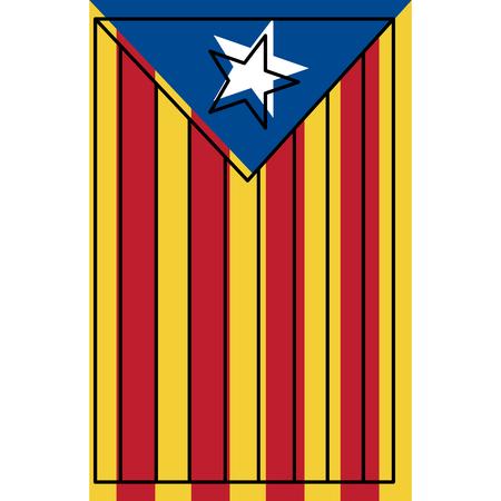Catalogna la bandiera nazionale Europa Spagna illustrazione vettoriale Archivio Fotografico - 90829335