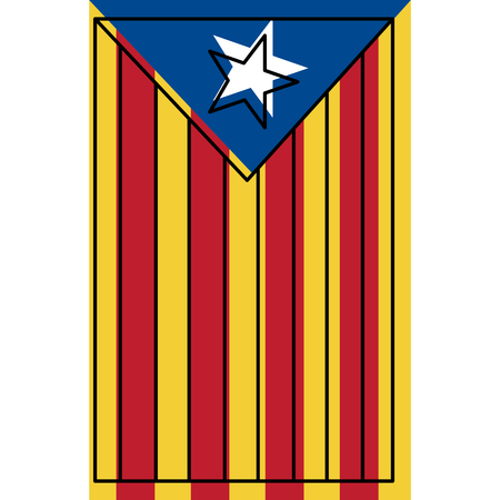 catalonia the national flag europe spain vector illustration