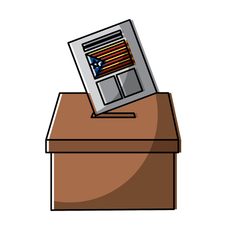 vote box ballot catalonia democracy referendum independence vector illustration Illusztráció