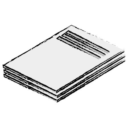 ドキュメント紙分離アイコンベクトルイラストデザイン