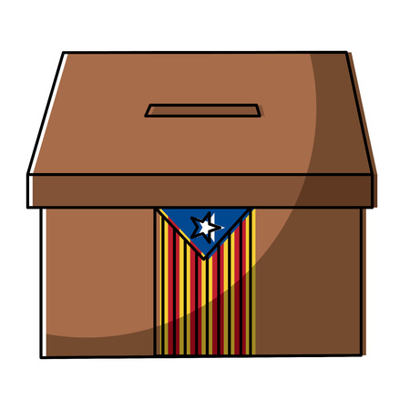 catalunya flag independence vote icon image vector illustration 向量圖像