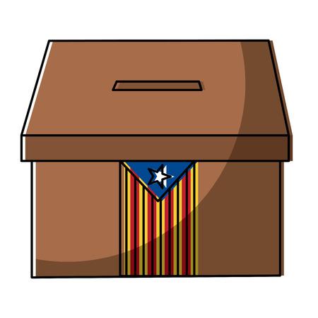 Drapeau catalunya indépendance vote icône image illustration vectorielle Banque d'images - 90829359