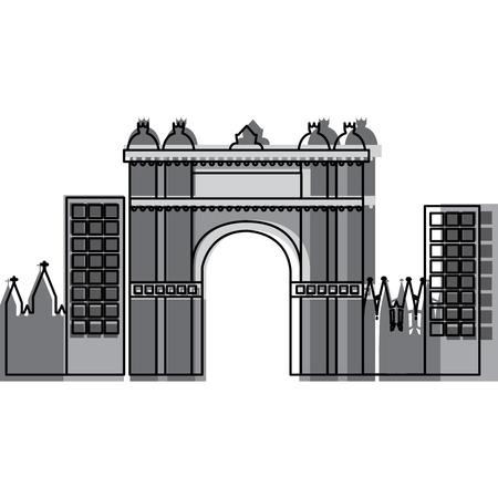 Arco trionfale di Barcellona Spagna sito storia illustrazione vettoriale Archivio Fotografico - 90829384
