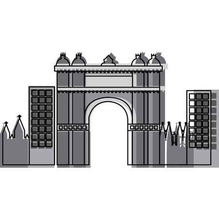 triumphal arch of barcelona spain site history vector illustration Banco de Imagens - 90829384