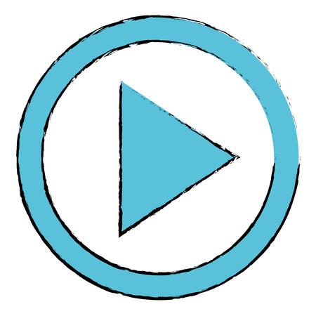 jouer bouton isolé icône vector illustration design Vecteurs