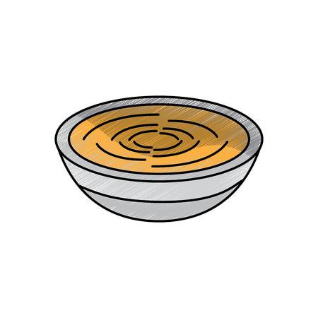 Traditionelles Essen Katalonien Romesco Gastronomie Vektor-Illustration Standard-Bild - 90829444