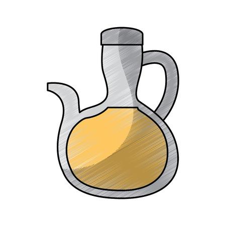 flesje olie heerlijke ingrediënt vegetarische voeding vectorillustratie