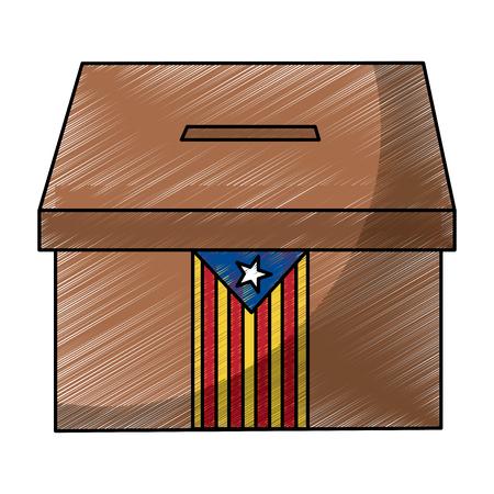 Ilustración de vector de imagen de icono de voto de independencia de bandera de catalunya Foto de archivo - 90829500