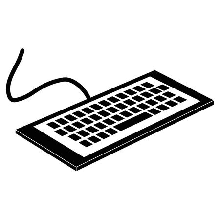ontwerp van de het pictogram vectorillustratie van de toetsenbordcomputer het isometrische