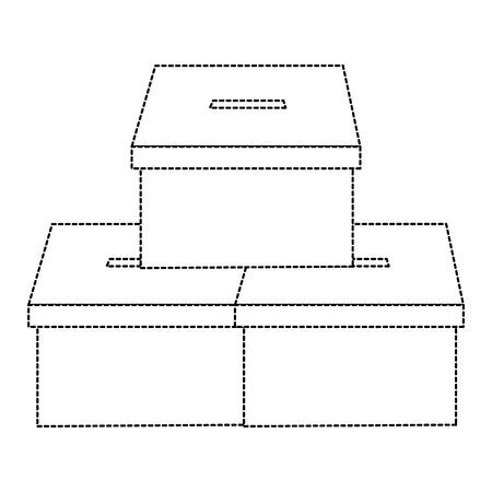 Illustrazione di vettore di immagine della democrazia delle scatole di cartone di voto del mucchio Archivio Fotografico - 90829544