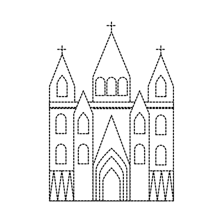 sagrada familia gaudi basilica temple church in barcelona spain vector illustration Illusztráció