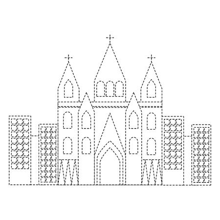 sagrada familia gaudi basilica temple church in barcelona spain vector illustration Illustration