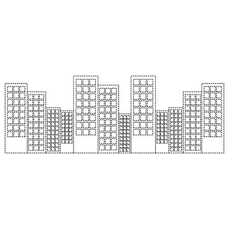도시 건물 아키텍처 도시 도시 ladnmark 벡터 일러스트 레이션