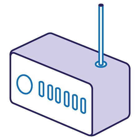 ルーター無線LAN分離アイコンベクトルイラストデザイン