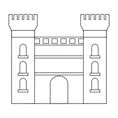 Catalonië kasteel monument beroemde historische vectorillustratie Stock Illustratie