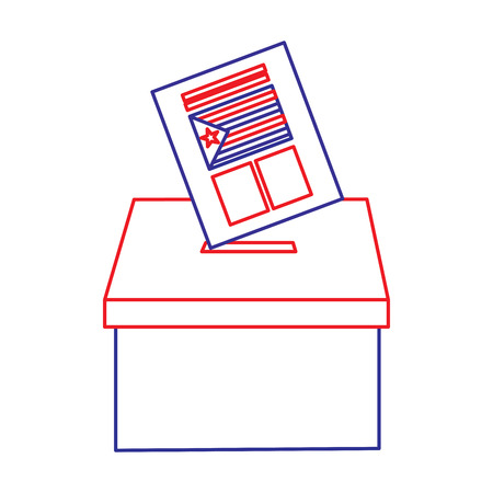 vote box ballot catalonia democracy referendum independence vector illustration Çizim