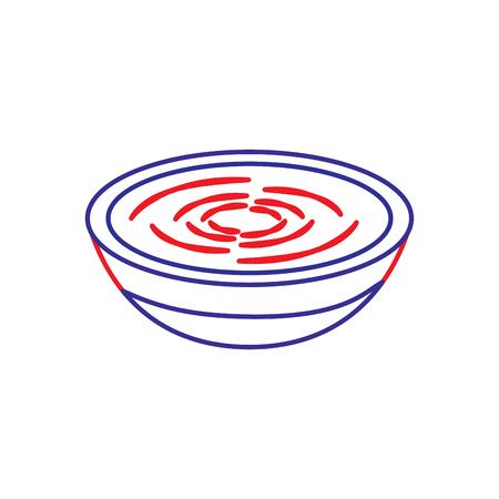전통 음식 카탈로니아 어 romesco 요리법 벡터 일러스트 레이션