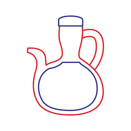 bottle oil delicious ingredient vegetarian nutrition vector illustration Illustration
