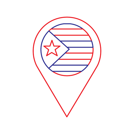 pin map catalonia flag location concept vector illustration