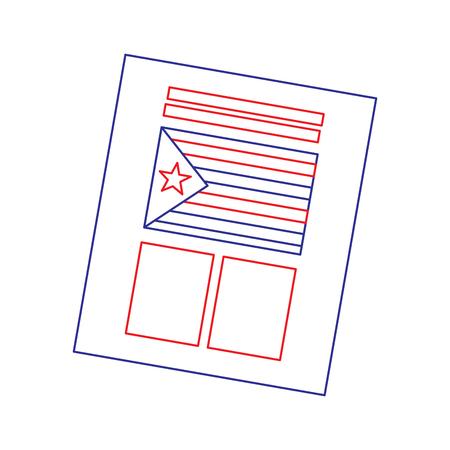 Bulletin de vote utilisé pour catalogne référendum d'illustration vectorielle indépendance Banque d'images - 90829663