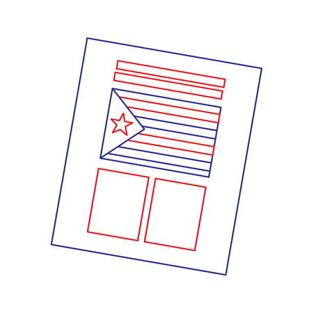 ballot used for catalonia referendum of independence vector illustration