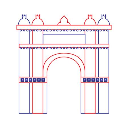 Arco trionfale di Barcellona Spagna sito storia illustrazione vettoriale Archivio Fotografico - 90829675