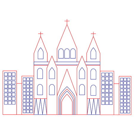 sagrada familia gaudi basiliek tempel kerk in barcelona Spanje vectorillustratie