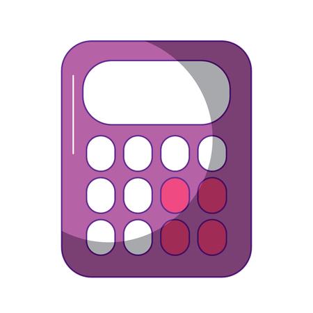Calculatrice de l'école mathématiques compte électronique vector illustration Banque d'images - 90829711