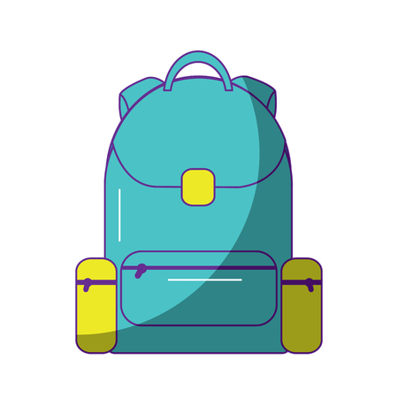 school backpack bag handle zipper vector illustration Stock Vector - 90829737