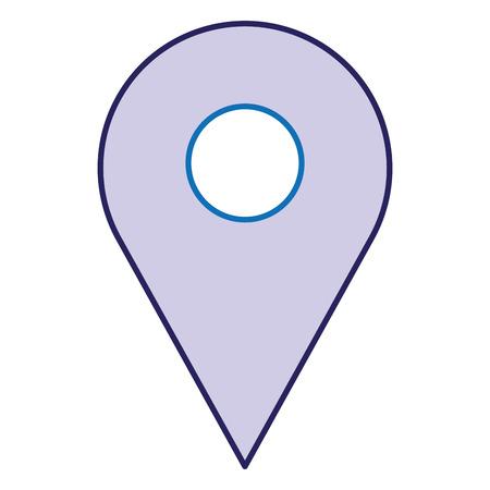 Pino ponteiro localização ícone vector ilustração design Foto de archivo - 90829738