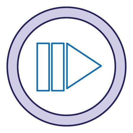 버튼 격리 된 아이콘 벡터 일러스트 디자인 재생 스톡 콘텐츠 - 90829742
